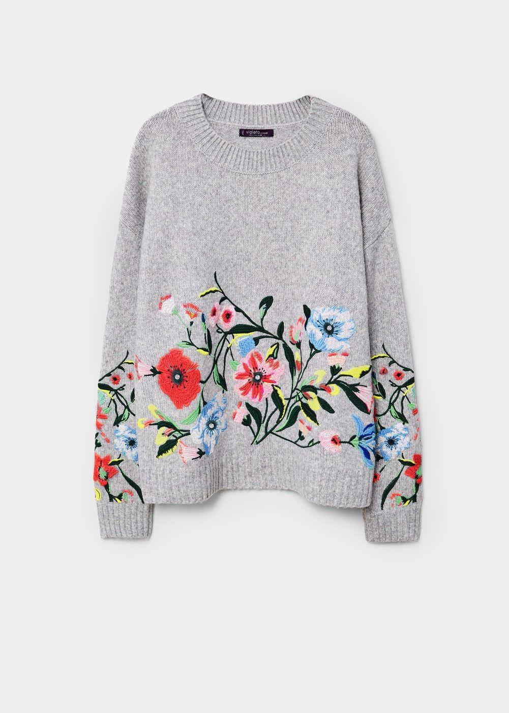 Jersey bordado floral - Cárdigans y jerséis Tallas grandes | Style ...