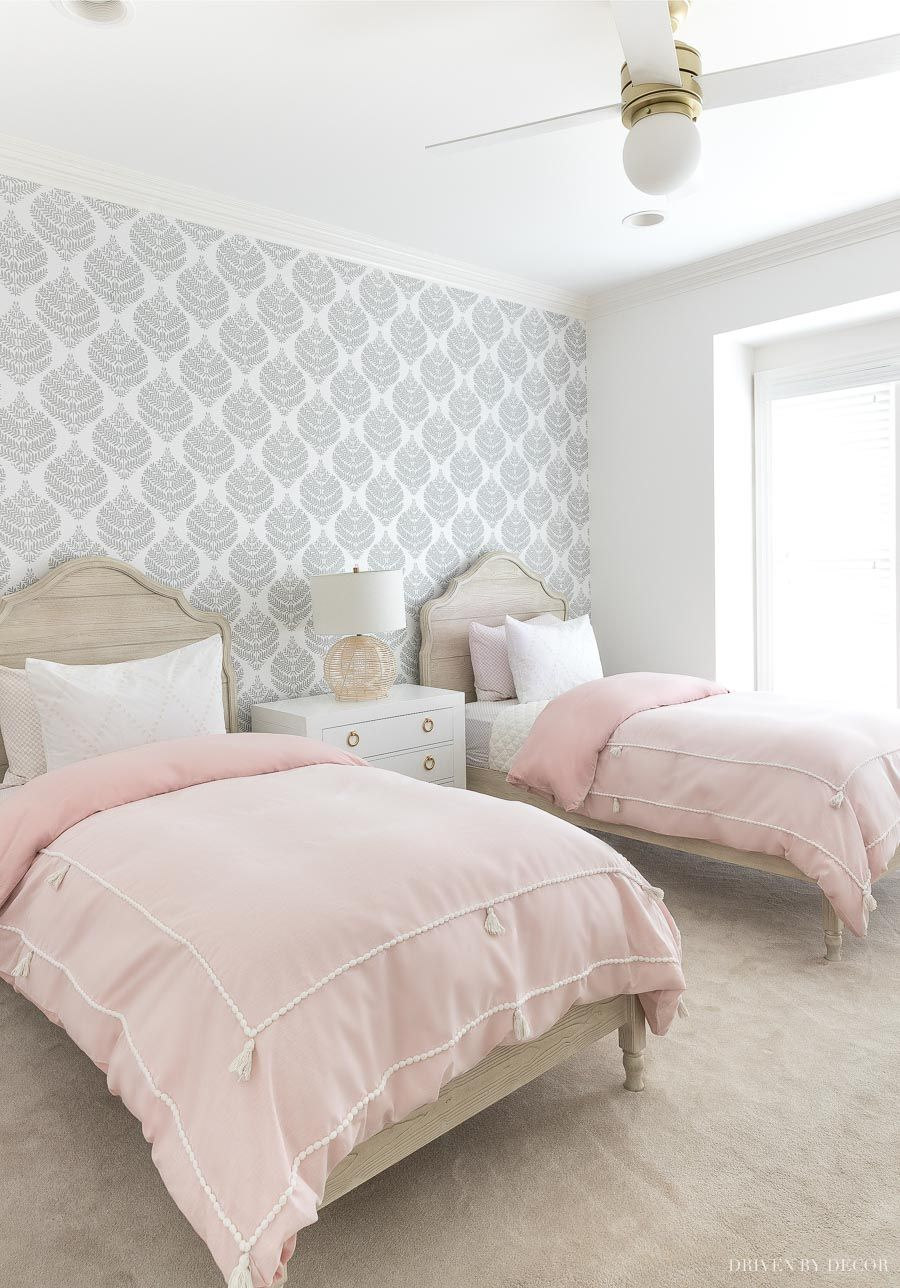 Peel Stick Wallpaper How My First Project With It Turned Out Your Questions Answered Driven By Decor Driven By Decor Decor Guest Bedroom