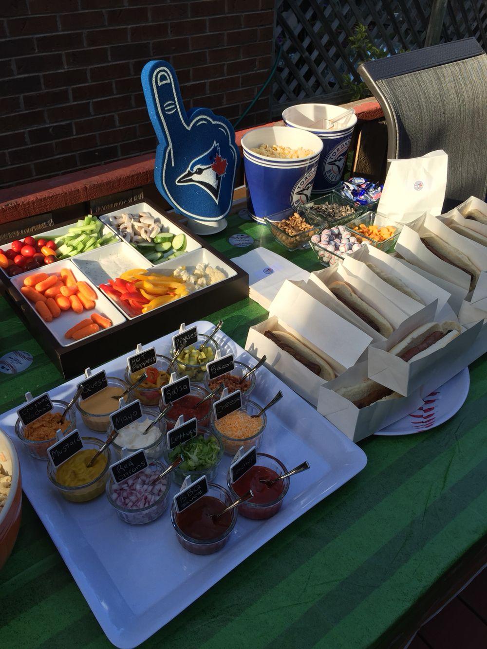 Hot dog bar Hot dog bar, Baseball party, Birthday party