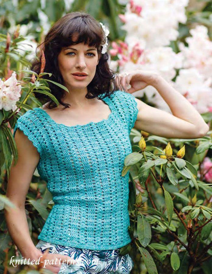 Summer top free crochet pattern. LOTS of patterns here. | Women\'s ...