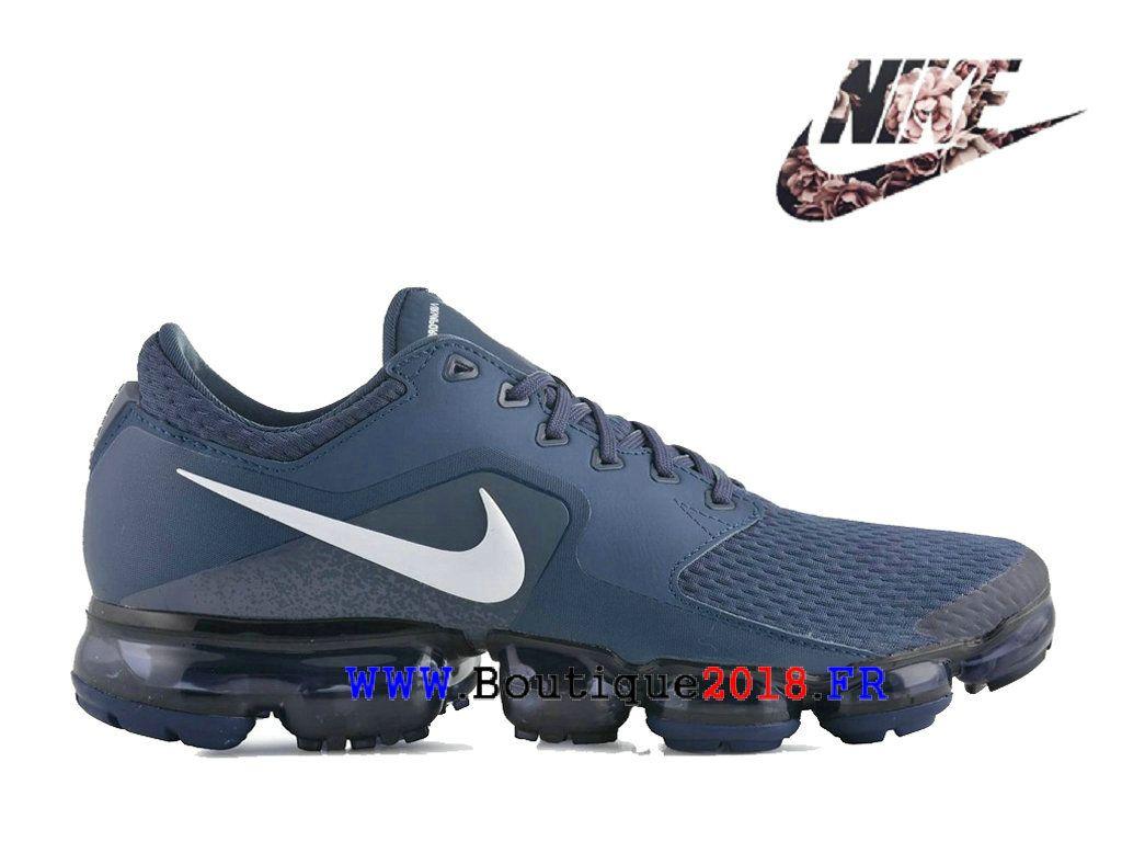 717ac62120ca78 Nouveau Nike Air VaporMax Flyknit 2.0 Pas Cher Prix Asphalt Chaussures Homme  Bleu blanc AH9046-