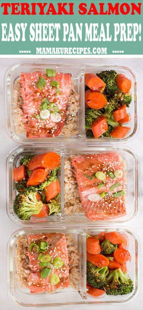 Teriyaki Salmon Easy Sheet Pan Meal Prep! - Mamaku Recipes #teriyakisalmon Teriyaki Salmon Easy Sheet Pan Meal Prep! - Mamaku Recipes #teriyakisalmon