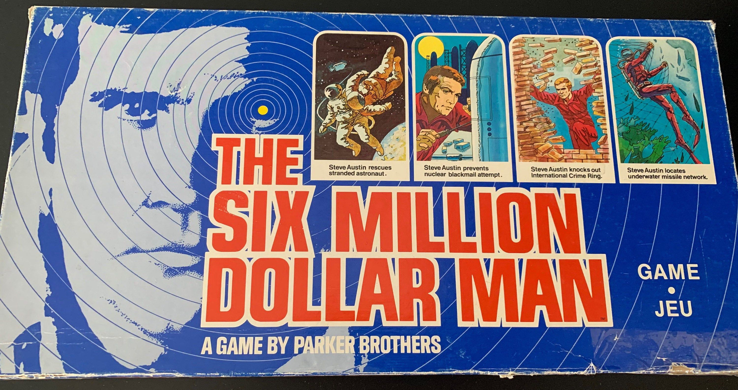 The Six Million Dollar Man Board Game Vintage Board Games Board