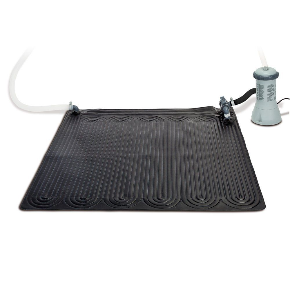Intex Solar Heater Mat For Above Ground Pools Up To 8 000 Gallons Walmart Com In 2020 Solar Pool Heater Solar Heater Solar Pool