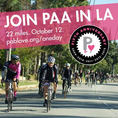 Ride PAA in LA on October 12! http://pablove.org/oneday #cycling #getfit #healthy #losangeles #bike