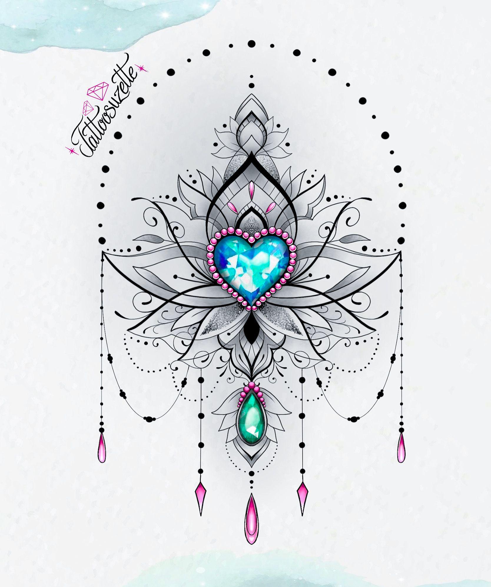 Photo of Lotus jewel mandala tattoo design