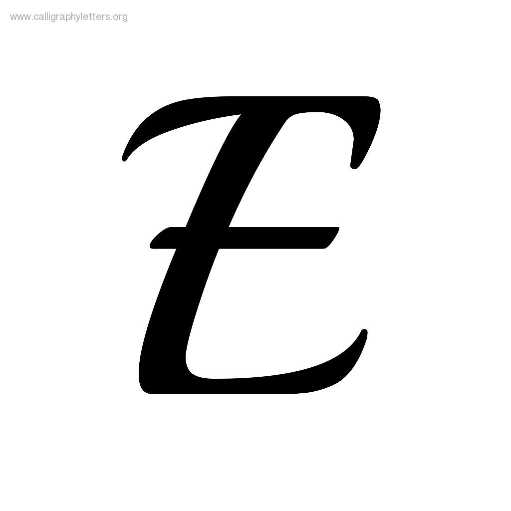 Calligraphy Lowercase E Images