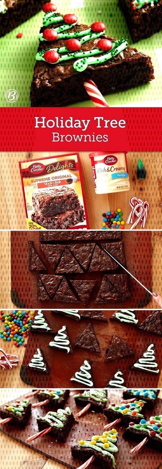 Weihnachtsbaum Brownies,