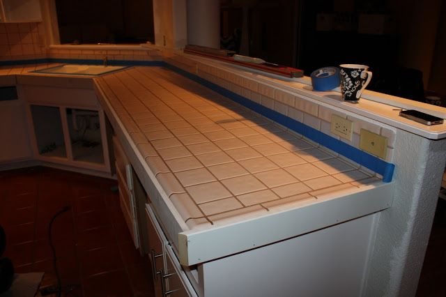 Howto Concrete Countertops Over Existing Tile Crafts Pinterest - Cover old tile countertops