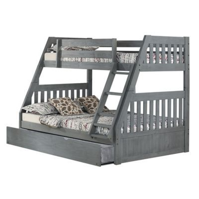 Twin Over Full Bunk Bed With Trundle In
