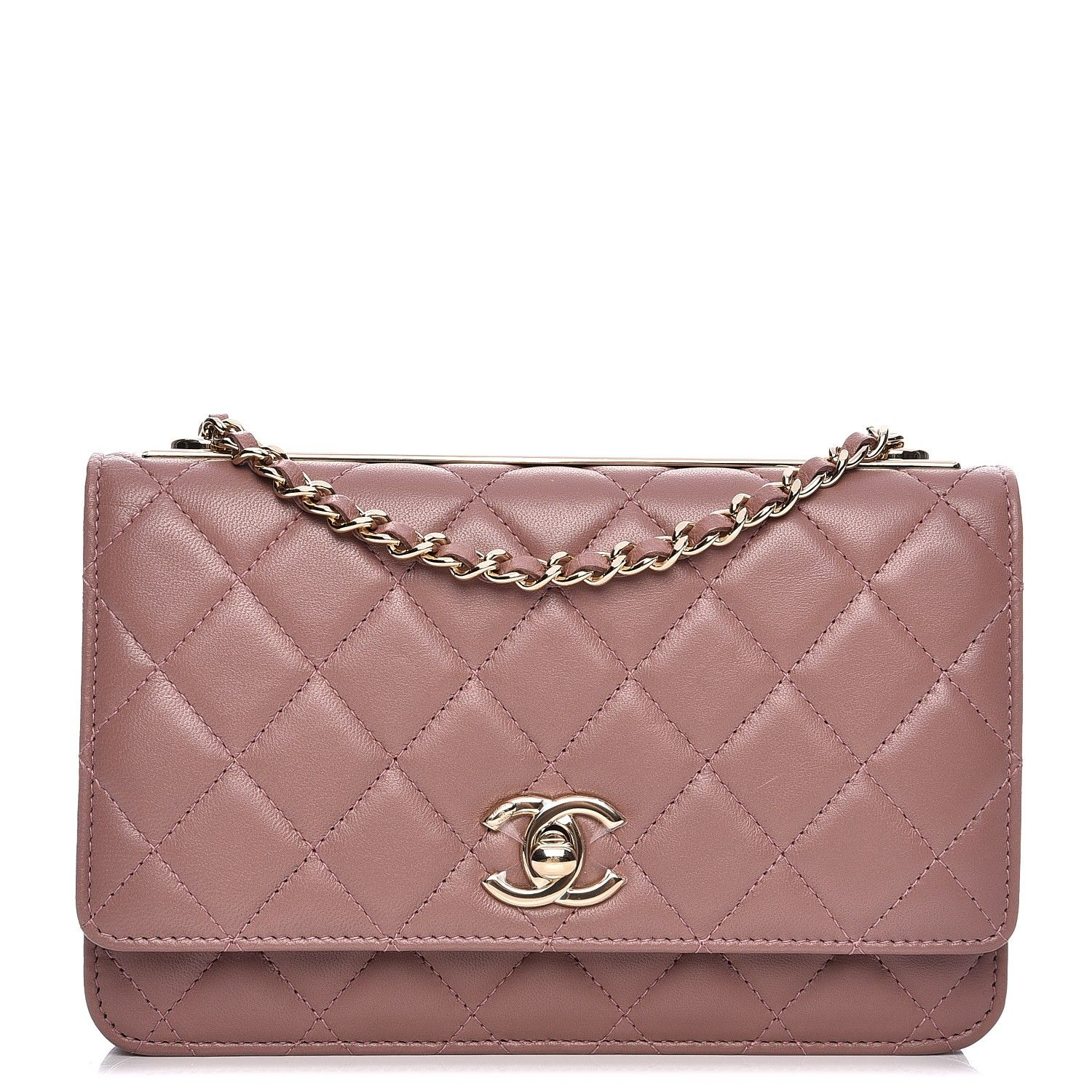 fdc382c1c60f This authentic CHANEL Lambskin Quilted Trendy CC Wallet On Chain WOC in  Pink. This wallet is crafted of luxuriously soft diamond quilted lambskin  leather in ...