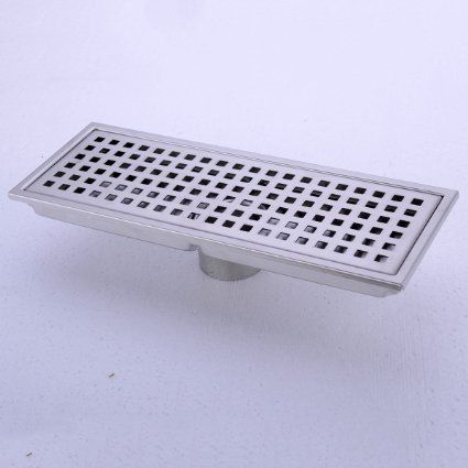 Hanebath Linear Shower Floor Drain With Removal Cover Made Of Sus304 Stainless Steel 12 Inch Long Brushed Stainless Shower Floor Floor Drains Pvc Shower