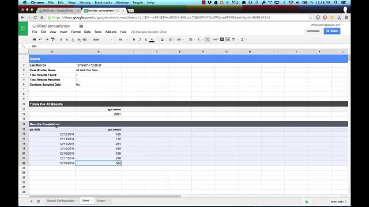 Introduction To The Google Analytics Spreadsheet Add On Measure Analytics Google Analytics Spreadsheet Update google spreadsheet api