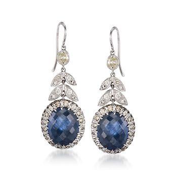 sapphire and diamond earrings... if i had my ears pierced