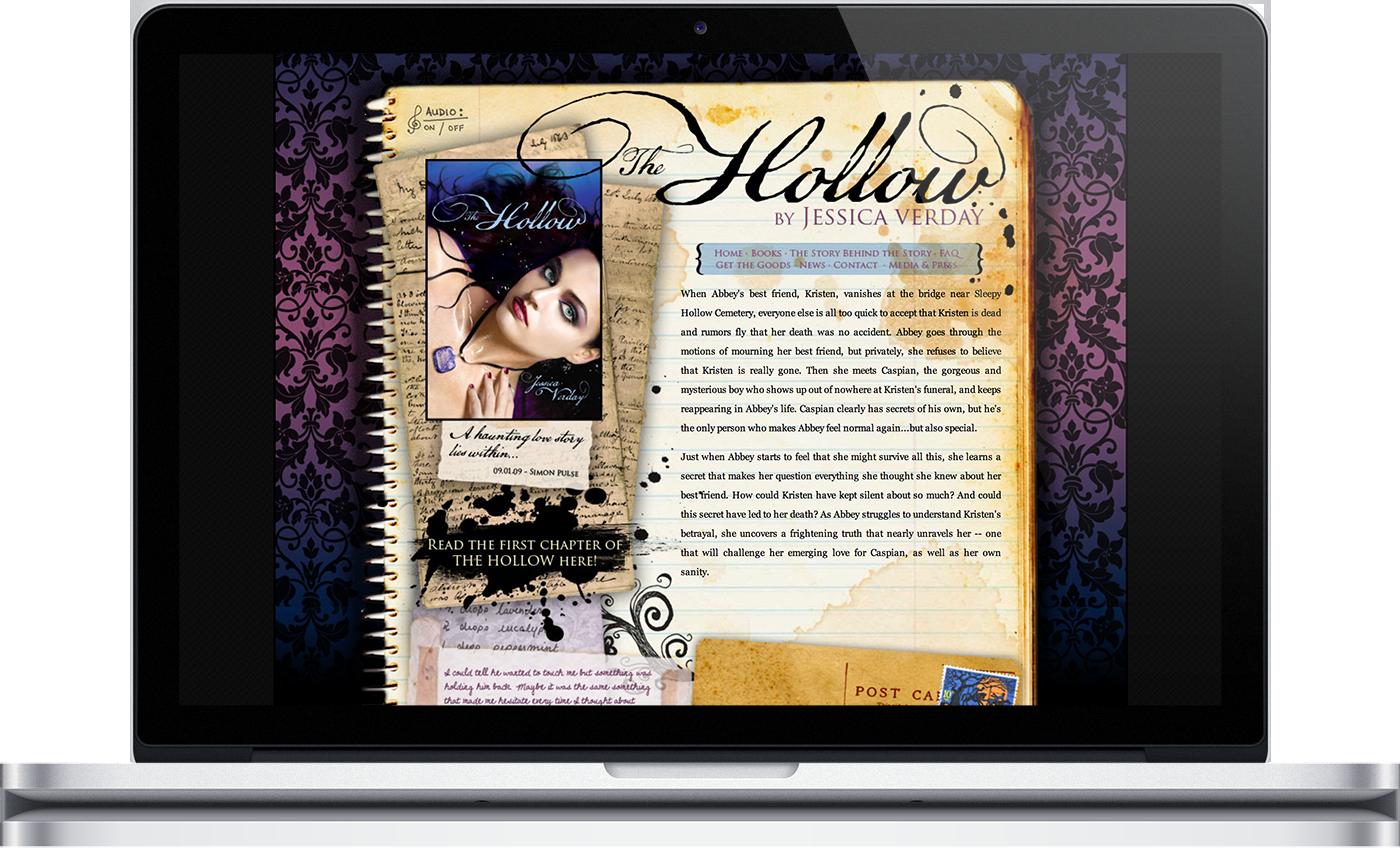 Jessica Verday Author Website, designed by Kira Butler in Montreal. http://www.elixireleven.com