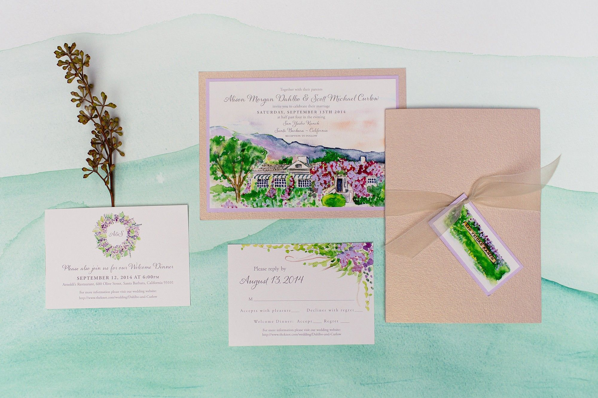 Painted Landscape Wedding Invitations | Pinterest | Weddings ...
