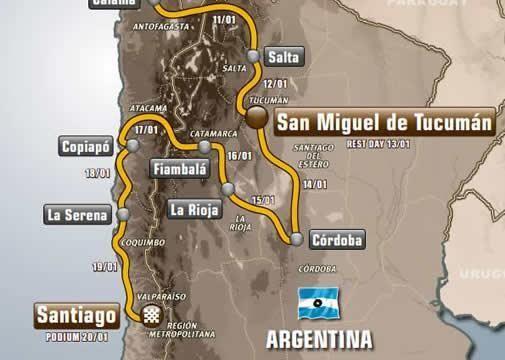 Mapa Dakar 2014