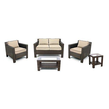 Grand Basket Company Glen Cove Patio Furniture Set   5 Piece, All Weather  Wicker