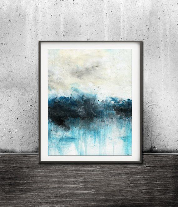 Abstract Blue Print Xxl 20 X 24 Digital Download Printable Art