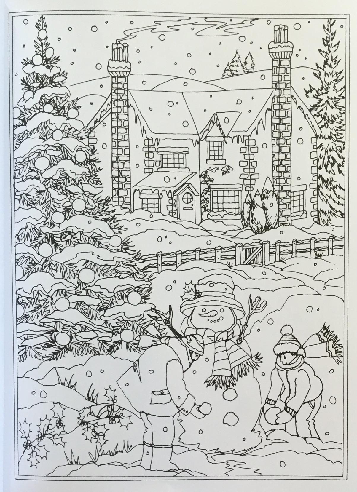 Amazon Com Creative Haven Winter Wonderland Coloring Book Adult