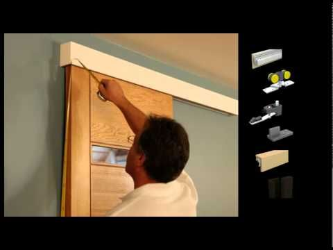 Saf clip syst me coulissant en applique pour porte int rieure conseils travaux portes - Systeme coulissant pour pose applique porte ...