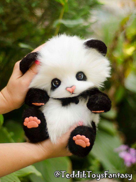 Panda May-Lun ,(made to order) Teddy Bear Stuffed Animal Bear Soft Toys Artist Teddy Bears #teddybear