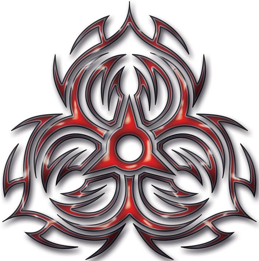 Eagle By Roblfc1892: Biohazard Tribal Tattoo Designs