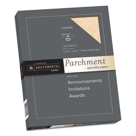 Southworth Parchment Specialty Paper Copper 24lb 8 1 2 X 11