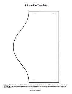 Free Printable Tricorn Hat Pattern  56593e828e0