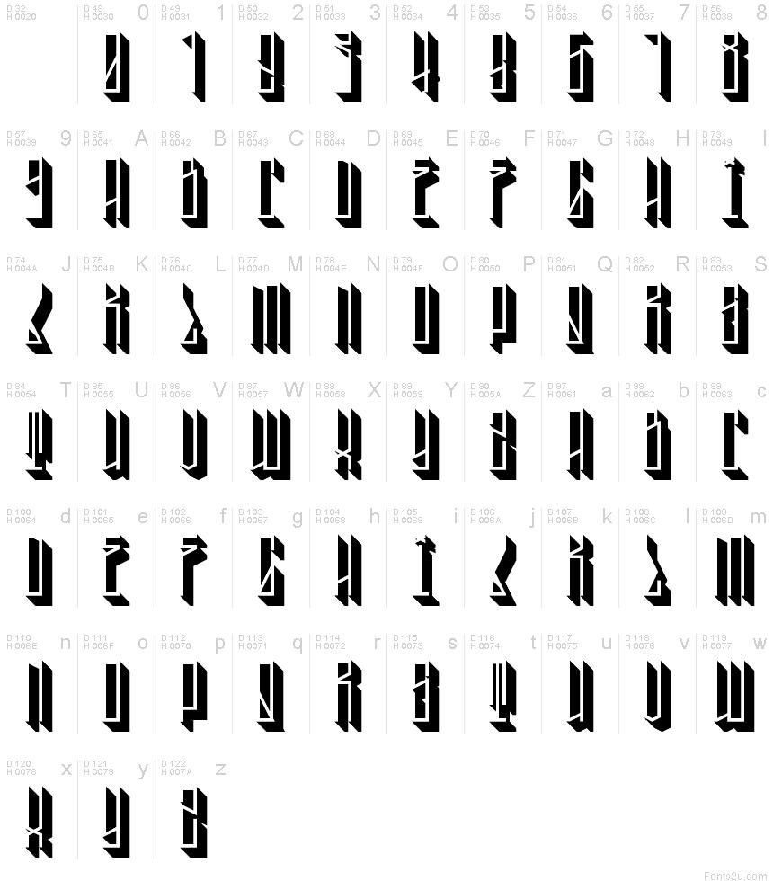 3D Tallboy font