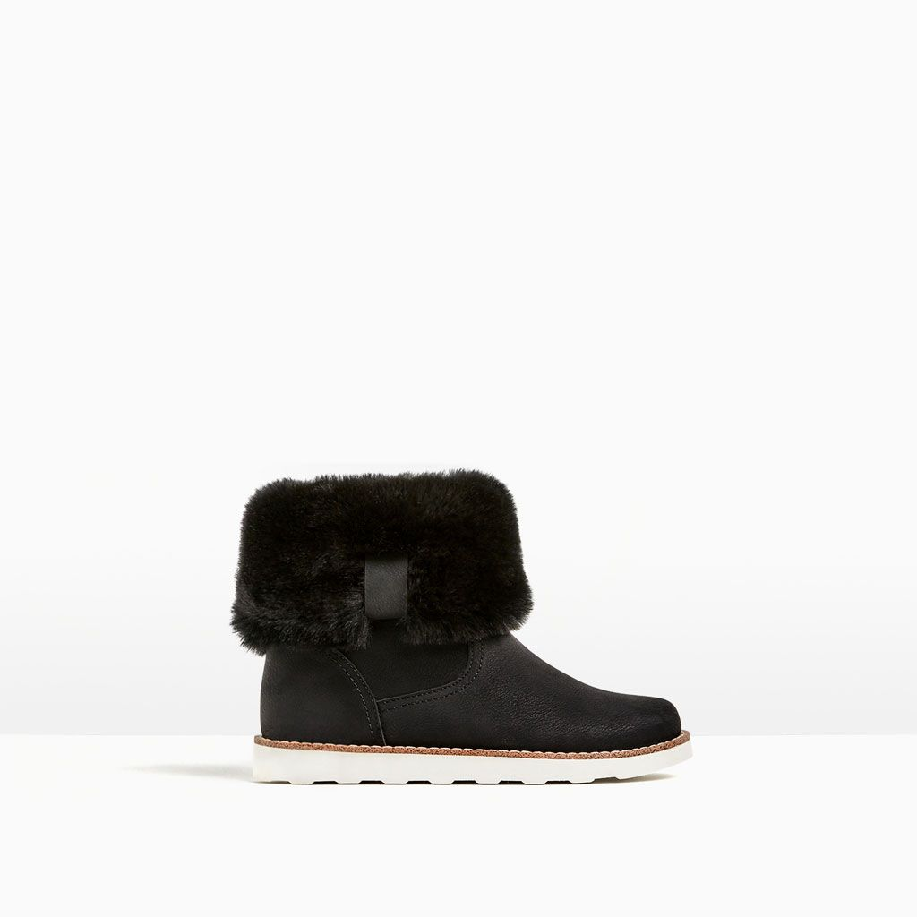 Image 1 of FAUX FUR ANKLE BOOTS from Zara