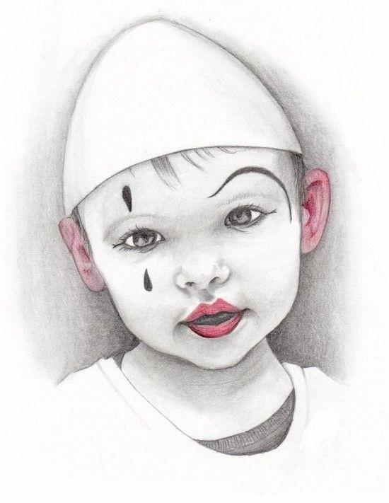 Clowns danse maquillage dessin pierrot et maquillage - Dessiner un clown ...