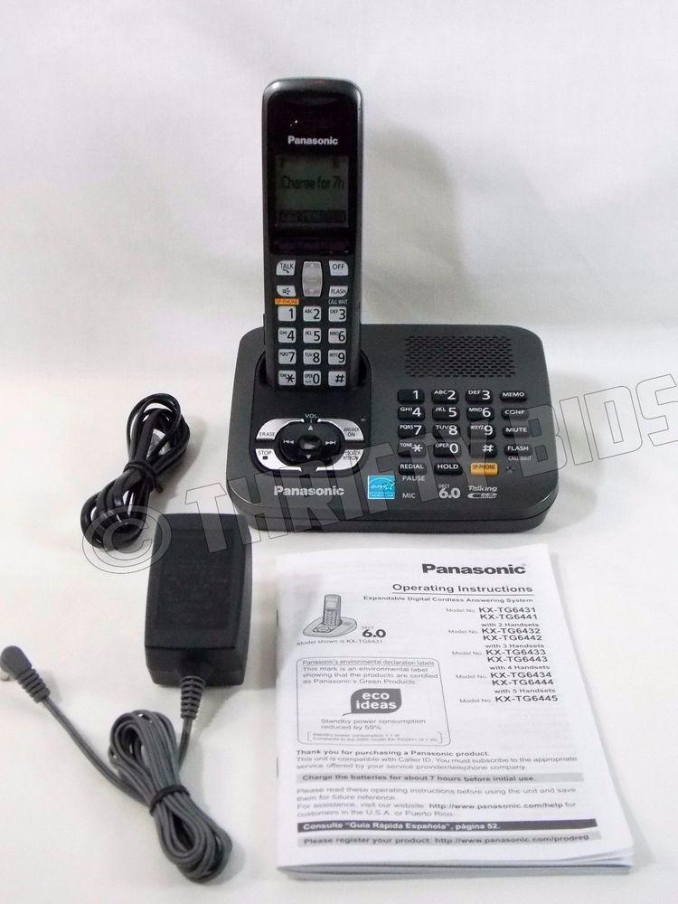 panasonic 6 0 dect cordless phone manual product user guide rh repairmanualonline today Panasonic Cordless Phone Answering Machine Code for Panasonic Answering Machine