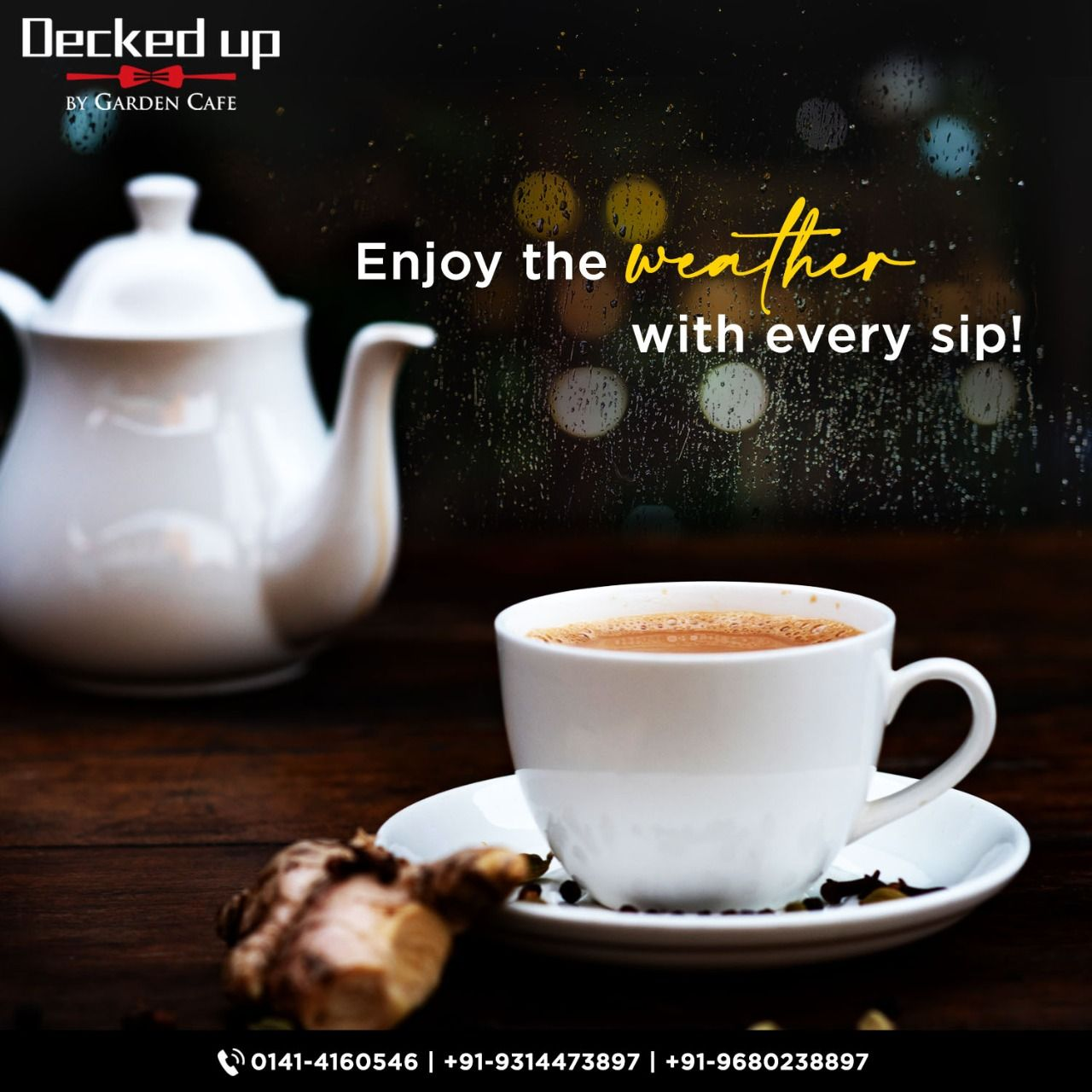 In Monsoons Romance Grows With Every Sip Of Tea Feel The Vibes With The Best Tea In The Town Grab Your At Decked Up And Fee In 2020 Best Tea
