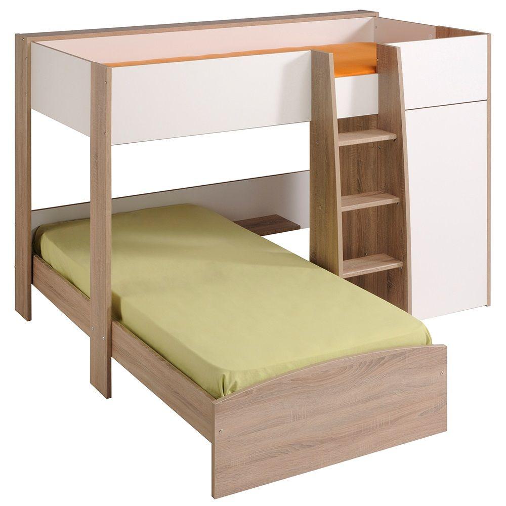 Offset Bunk Beds parisot magellan l shaped kids bunk bed | bunk bed