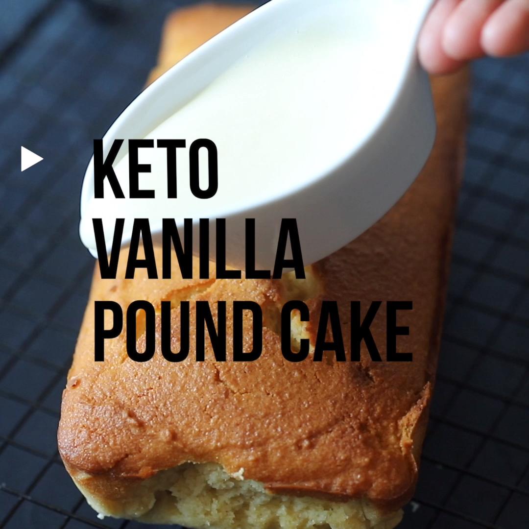 lowspark.com brings Keto Vanilla Pound Cake 60 min/12 slices
