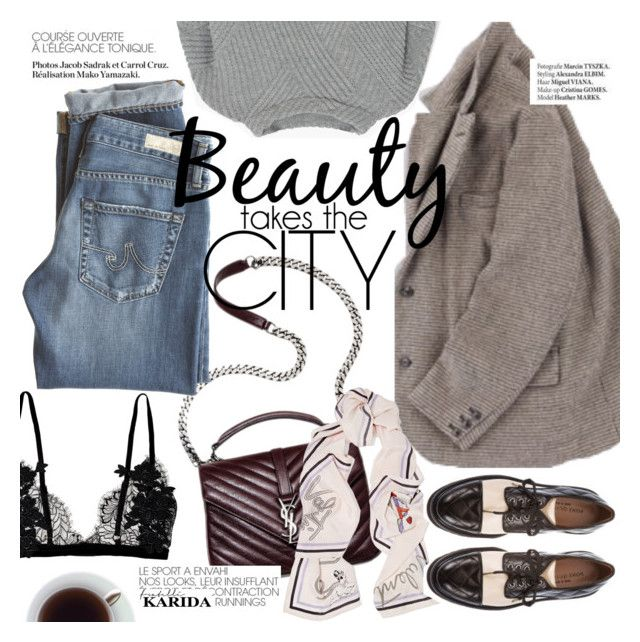 """""""Beauty takes the city"""" by punnky ❤ liked on Polyvore featuring AG Adriano Goldschmied, Valentino, MANGO, Pons Quintana and Haute Hippie"""