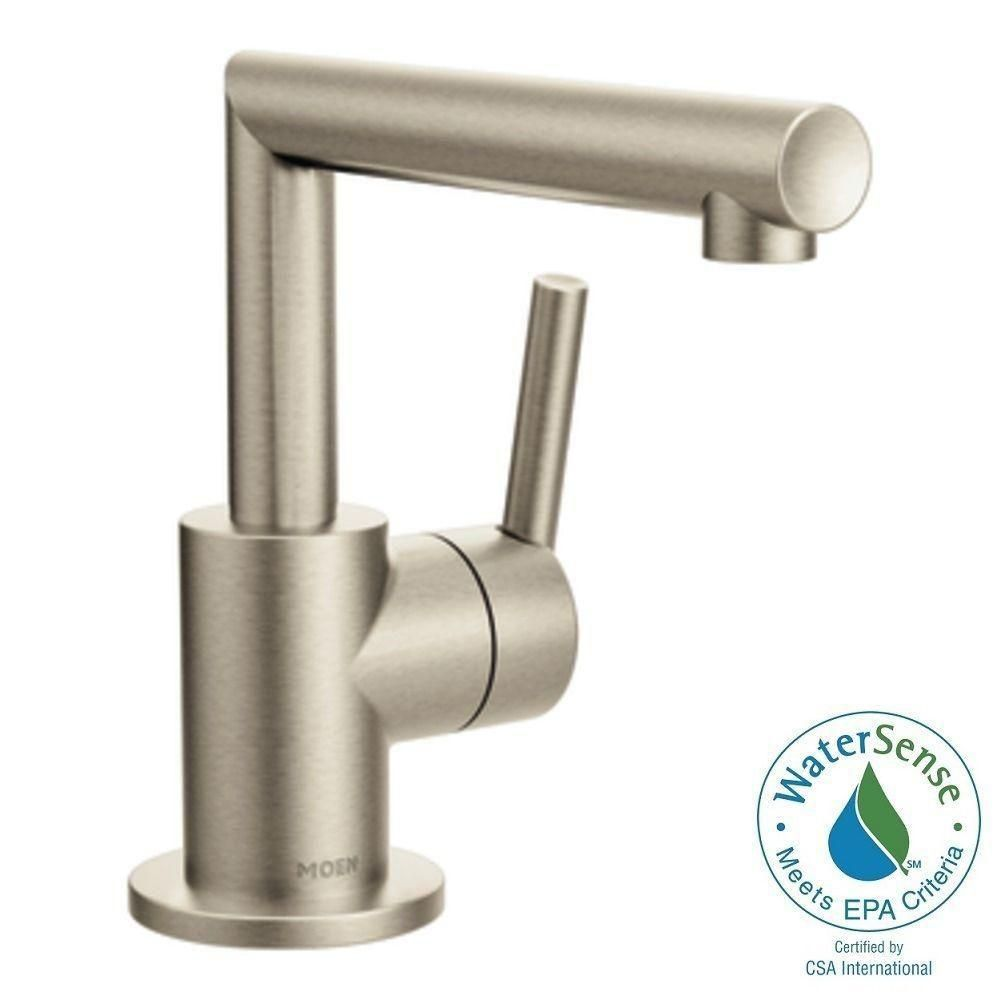 Moen Arris Single Hole 1Handle Bathroom Faucet In Brushed Nickel Unique Brushed Nickel Bathroom Faucets Design Decoration