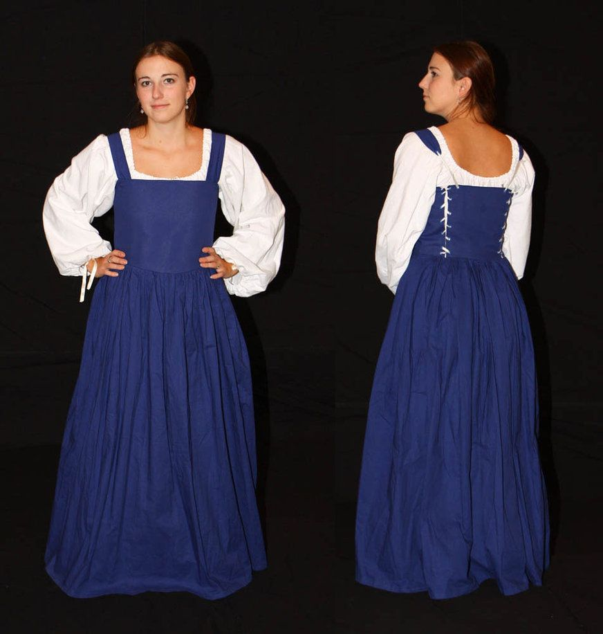 blue peasant dress by celefindel eds super gr8
