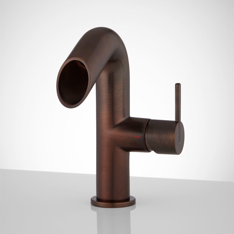 Phillipe Single Hole Bathroom Faucet No Overflow Oil Rubbed