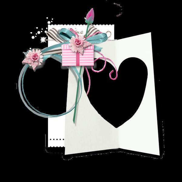 Photo frame tube heart for Valentine's Day