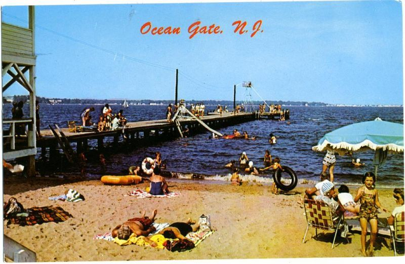Ocean Gate Jersey Shore Ocean Vintage Beach