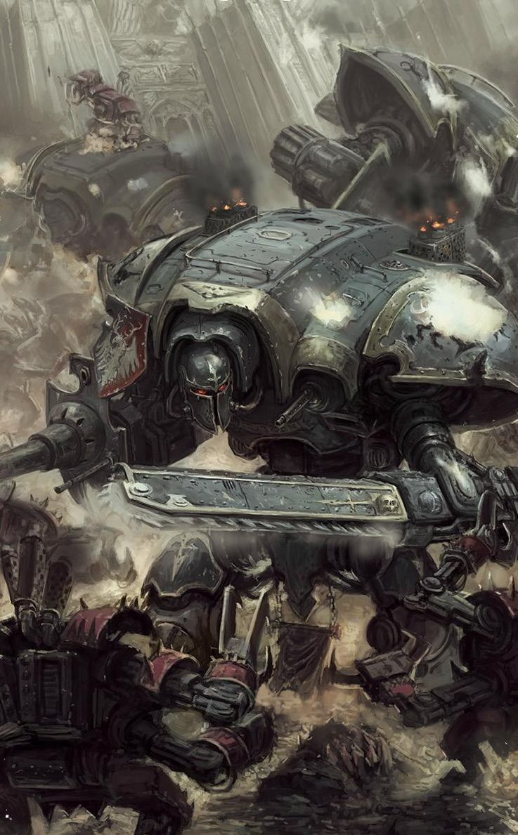 Imperial Knights on the march against the Greenskin menace ...