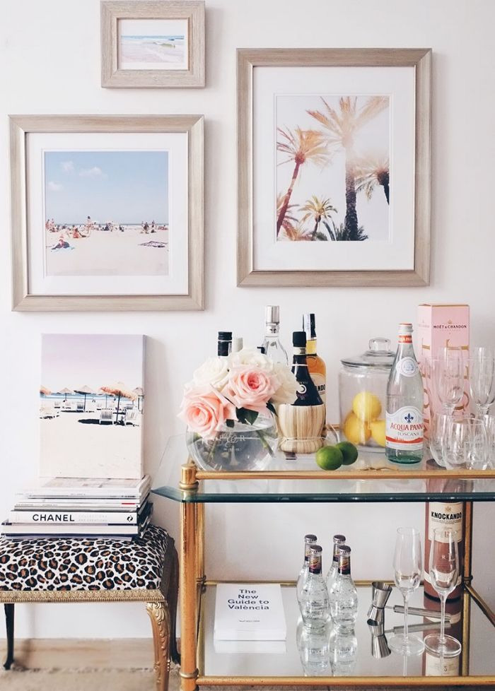 Weekend Decorating Idea: Update Your Bar Cart For The Holidays With Mixed  Metals | Gallery Wall, Bar Carts And Walls