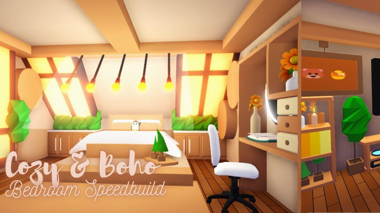 Cozy Boho Bedroom Speedbuild Roblox Adopt Me Simple Bedroom Design House Decorating Ideas Apartments My Home Design
