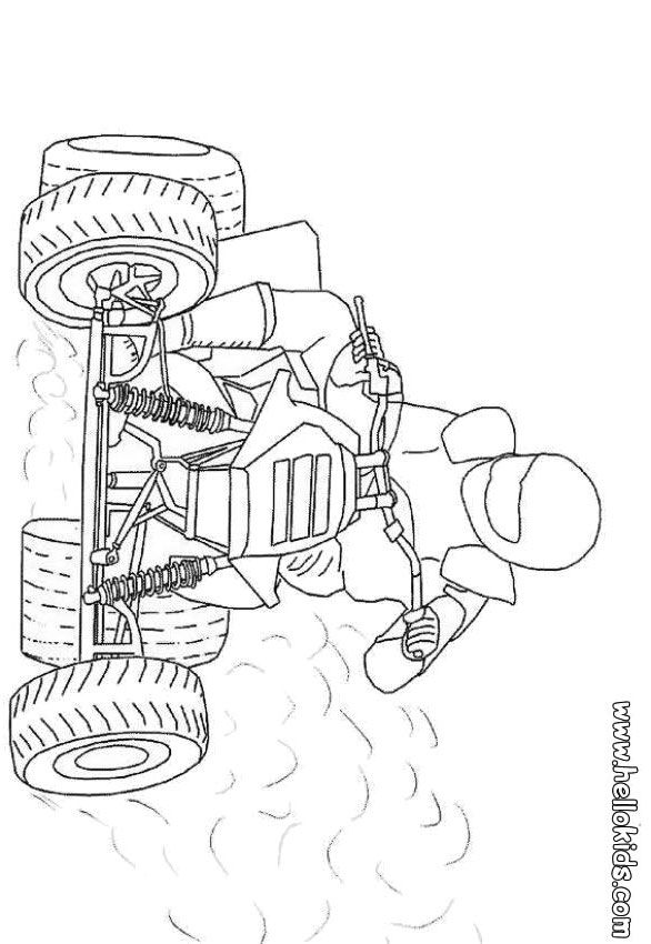 Quad coloring page Printables Pinterest Stamps