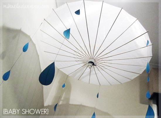 Shower umbrella decor could hang other things from it as for Decor umbrellas