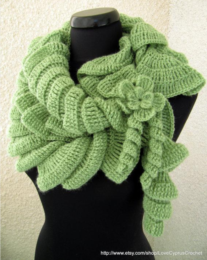 ruffle scarf   Cowl   Pinterest   Scarves, Crochet and Crochet scarves