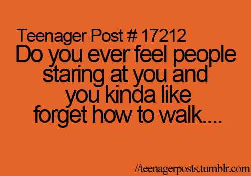 yup :) i also forget how to breathe when people stare at me