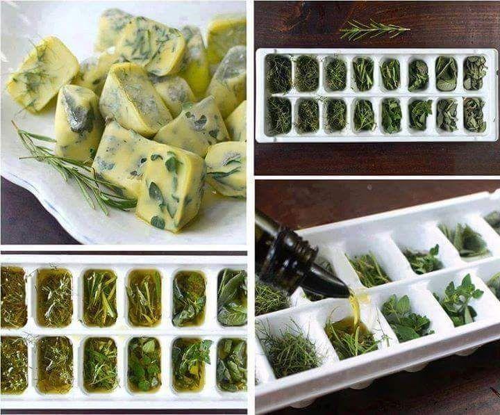 Freeze herbs!